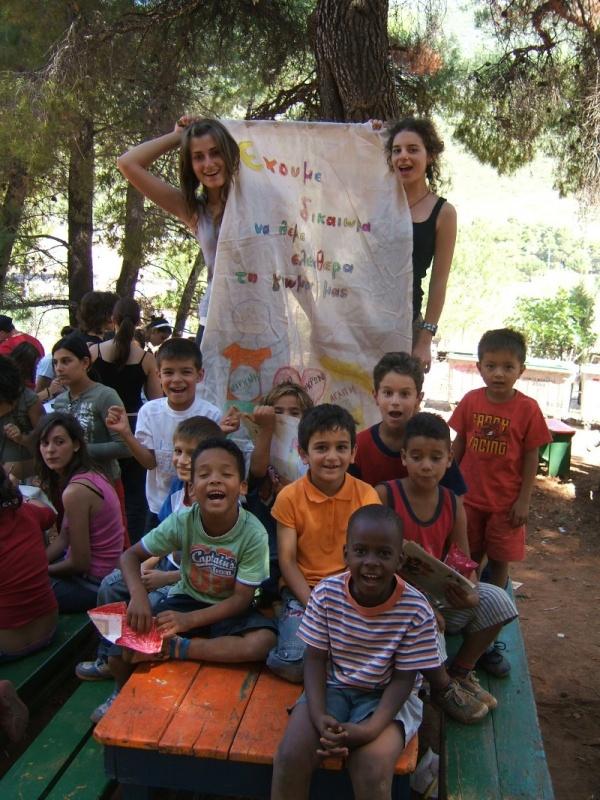 Volunteer with kids